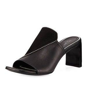 Rag & Bone Myla Suede/Leather Studded Mules *NEW*